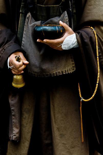 A begging monk's equipment, Japan