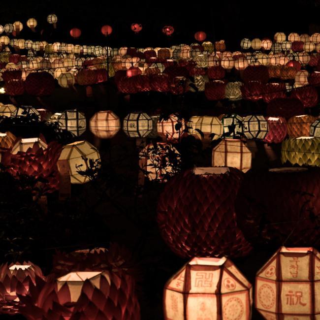 Ocean of lanterns on Buddha's birthday