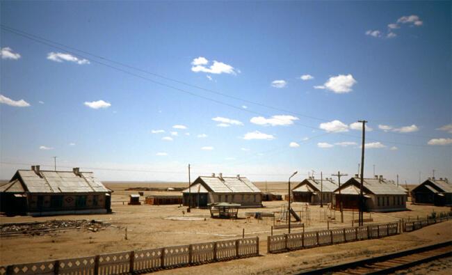 A dry village in the Gobi desert, 1993