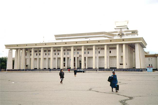 A rather empty square in Ulan Bator