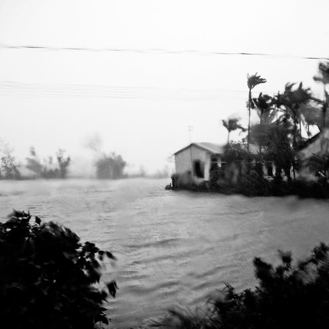 Typhoon in Vietnam, near Hoi An.