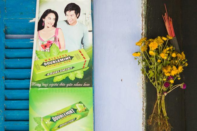 Doublemint chewing gum as promoted in Vietnam