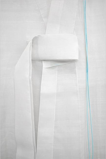 Detail of a white hanbok