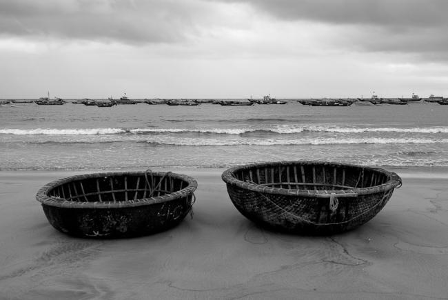 Finshing boats of Da Nang, Vietnam