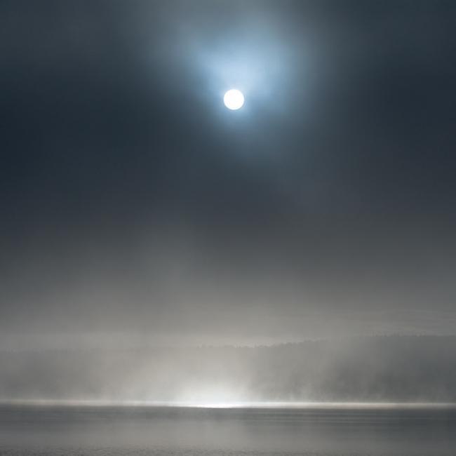 Sun and mist