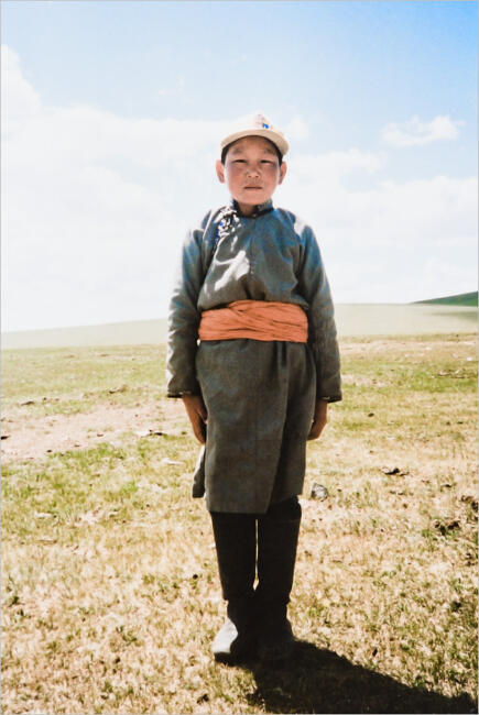 Mongolian boy on the steppe, 1993