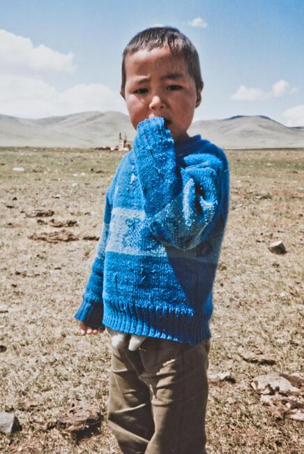 Mongolian boy in blue sweater, 1993