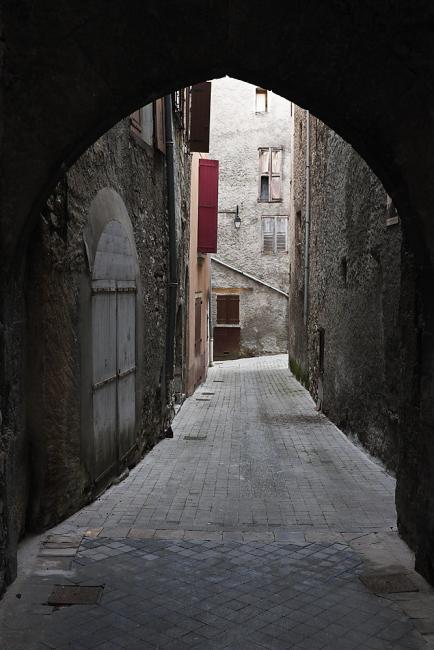 A street in Castellane, Alpes Maritime, France