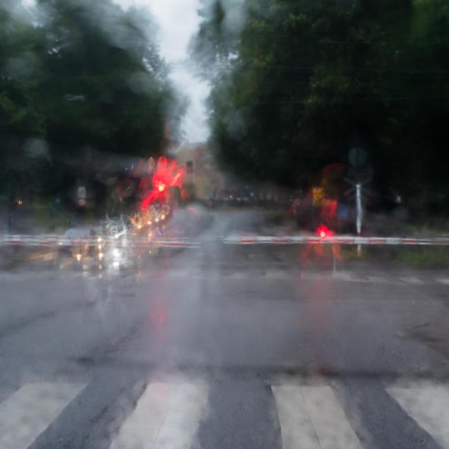 Railway and rain