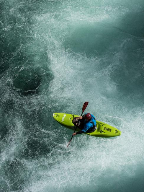 Whitewater kayaking, Sjoa, Norway