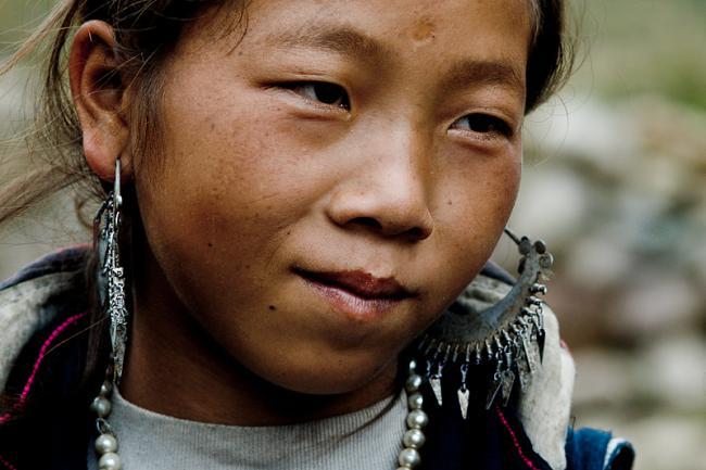 Black Hmong girl. Sapa, Vietnam
